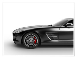 Premium poster  Sports car in black