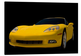 Alu-Dibond  Yellow Corvette