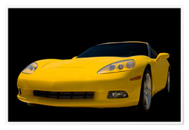 Premium poster  Yellow Corvette