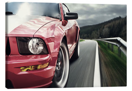 Canvas print  Red Mustang