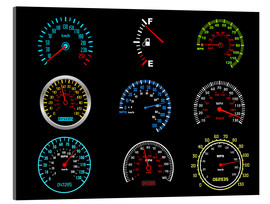 Acrylic print  Speedometers for mph Fans