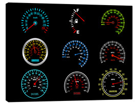Canvas print  Speedometers for mph Fans
