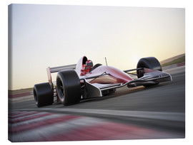 Canvas  F1 racing car in motion