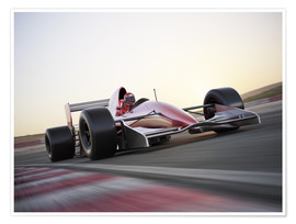Premium poster  F1 racing car in motion