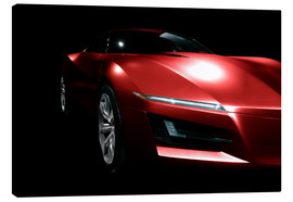 Canvas  Red sports car