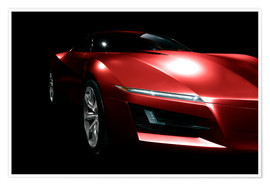 Premium poster Red sports car