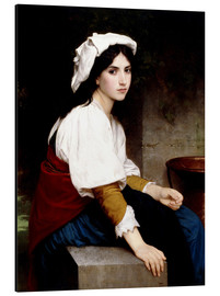 Aluminium print  Italian girl at a fountain - William Adolphe Bouguereau