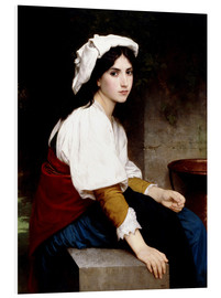 Foam board print  Italian girl at a fountain - William Adolphe Bouguereau