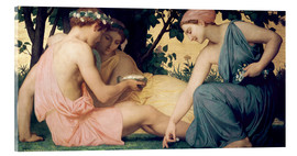 Acrylic glass  Le Printemps - William Adolphe Bouguereau