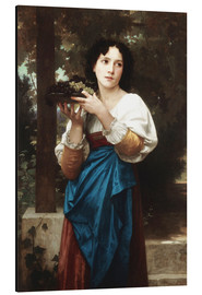 Aluminium print  In the vine - William Adolphe Bouguereau