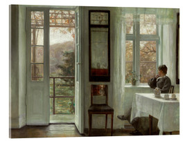 Acrylic print  Woman of the artist at a window - Carl Holsøe