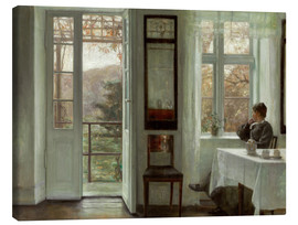 Canvas  Woman of the artist at a window - Carl Holsoe