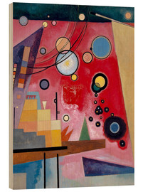 Wood print  Heavy red - Wassily Kandinsky