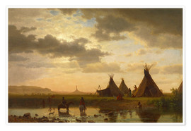Albert Bierstadt - View of Chimney Rock