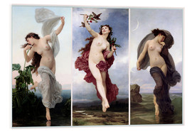 Acrylic glass  The times of day (Triptych) - William Adolphe Bouguereau