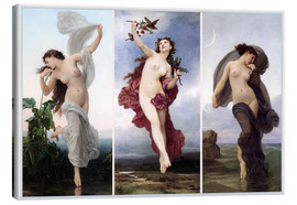 Canvas print  The times of day (Triptych) - William Adolphe Bouguereau