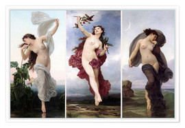 Premium poster The times of day (Triptych)