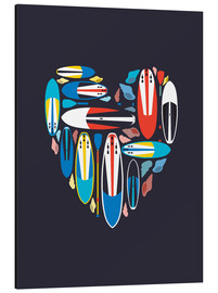 Alu-Dibond  Surfboard Love