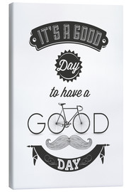 Canvas print  Good day - Typobox