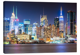 Canvas print  Manhattan Skyline in Neon Colors - Sascha Kilmer