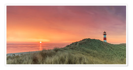 Premium poster Golden Morning - Sylt