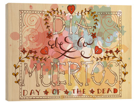 Wood print  Day of the Dead