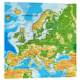 Acrylic print  Map of Europe