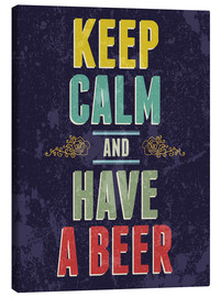 Canvas print  Keep calm and have a beer - Typobox