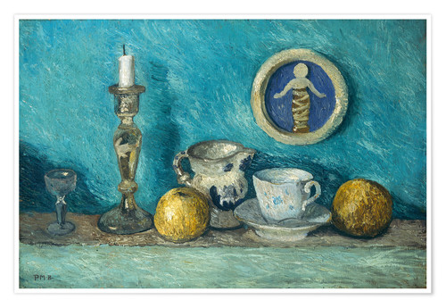 Premium poster Still Life with Robbia Putto