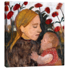 Canvas  Young woman with child - Paula Modersohn-Becker