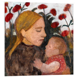 Foam board print  Young woman with child - Paula Modersohn-Becker