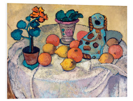 Foam board print  Still Life with Oranges and Stoneware Dog - Paula Modersohn-Becker
