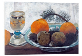 Foam board print  Still life with frosted glass cups, apples and pine twig - Paula Modersohn-Becker