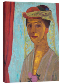Paula Modersohn-Becker - Paula Modersohn-Becker with hat and veil