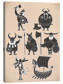 Canvas print  Fearless Vikings - Kidz Collection