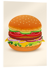Acrylic glass  Cheese burger