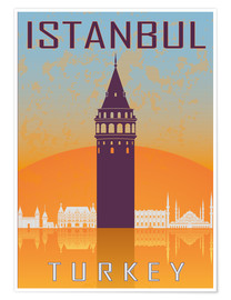 Poster  Istanbul - Galata Tower