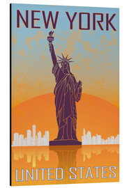 Aluminium print  New York - Statue of Liberty