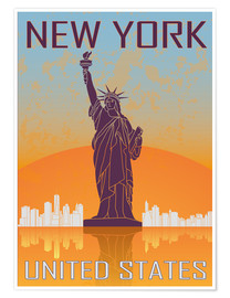 Premium poster  New York - Statue of Liberty