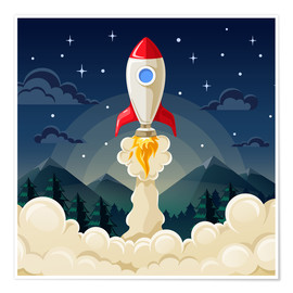 Premium poster  Rocket take-off - Kidz Collection