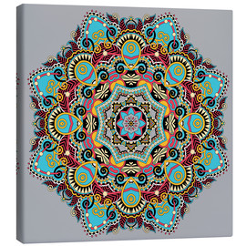 Canvas print  Mandala gray