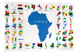 Acrylic print  African Countries with Flags