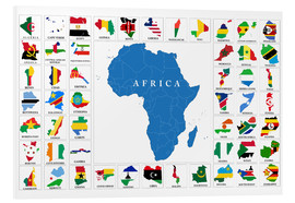 Foam board print  African Countries with Flags