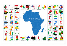 Premium poster  African Countries with Flags