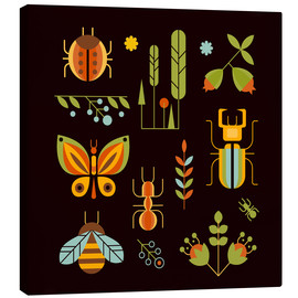 Canvas print  Retro Insects