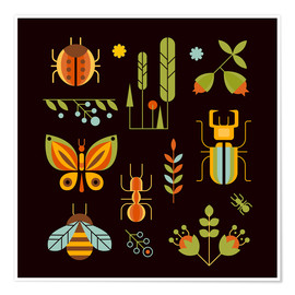 Premium poster  Retro Insects