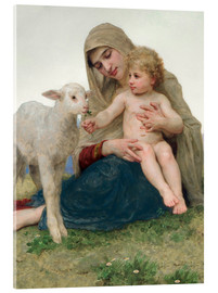 Acrylic print  Virgin with lamb - William Adolphe Bouguereau