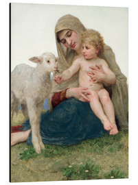 Aluminium print  Virgin with lamb - William Adolphe Bouguereau