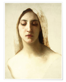 Premium poster  Study for 'La Charite' - William Adolphe Bouguereau