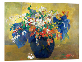 Acrylic glass  Flowers in a vase - Paul Gauguin